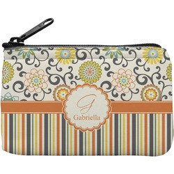 Swirls, Floral & Stripes Rectangular Coin Purse (Personalized)