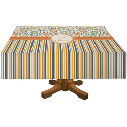 Swirls, Floral & Stripes Tablecloth (Personalized)
