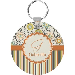 Swirls, Floral & Stripes Keychains - FRP (Personalized)