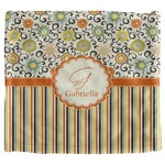 Swirls, Floral & Stripes Security Blanket (Personalized)