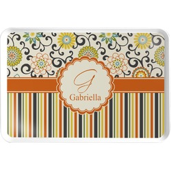 Swirls, Floral & Stripes Serving Tray (Personalized)