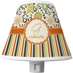 Swirls, Floral & Stripes Shade Night Light (Personalized)