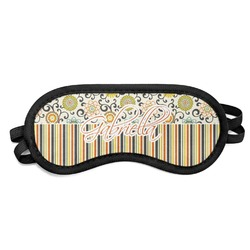 Swirls, Floral & Stripes Sleeping Eye Mask (Personalized)