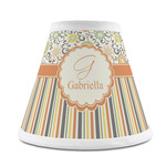 Swirls, Floral & Stripes Chandelier Lamp Shade (Personalized)