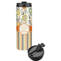 Swirls, Floral & Stripes Stainless Steel Tumbler (Personalized)
