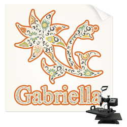 Swirls, Floral & Stripes Sublimation Transfer (Personalized)