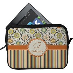 Swirls, Floral & Stripes Tablet Case / Sleeve (Personalized)