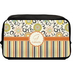 Swirls, Floral & Stripes Toiletry Bag / Dopp Kit (Personalized)