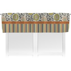 Swirls, Floral & Stripes Valance (Personalized)