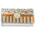 Swirls, Floral & Stripes Vinyl Checkbook Cover (Personalized)