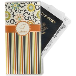 Swirls, Floral & Stripes Travel Document Holder
