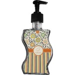 Swirls, Floral & Stripes Wave Bottle Soap / Lotion Dispenser (Personalized)