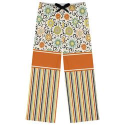 Swirls, Floral & Stripes Womens Pajama Pants (Personalized)