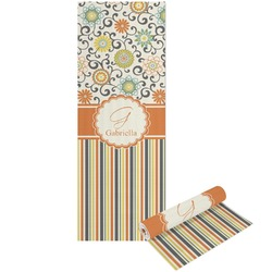 Swirls, Floral & Stripes Yoga Mat - Printable Front and Back (Personalized)