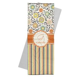 Swirls, Floral & Stripes Yoga Mat Towel (Personalized)