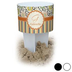 Swirls, Floral & Stripes Beach Spiker Drink Holder (Personalized)