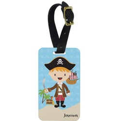 Pirate Scene Aluminum Luggage Tag (Personalized)