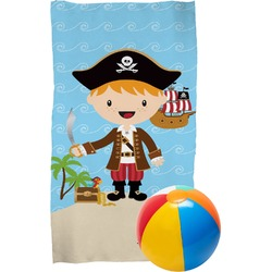 Pirate Scene Beach Towel (Personalized)