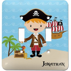 Pirate Scene Light Switch Cover (2 Toggle Plate) (Personalized)