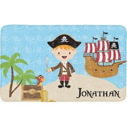 Pirate Scene Bath Mat (Personalized)