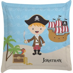 Pirate Scene Euro Sham Pillow Case (Personalized)