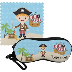 Pirate Scene Eyeglass Case & Cloth (Personalized)