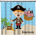 Pirate Scene Shower Curtain (Personalized)
