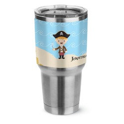 Pirate Scene Stainless Steel Tumbler - 30 oz (Personalized)