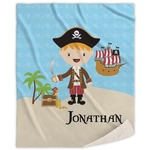 Pirate Scene Sherpa Throw Blanket (Personalized)