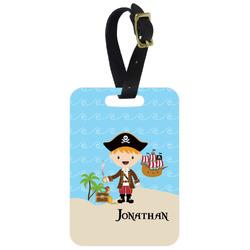 Pirate Scene Aluminum Luggage Tag (Personalized)