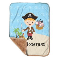 "Pirate Scene Sherpa Baby Blanket 30"" x 40"" (Personalized)"