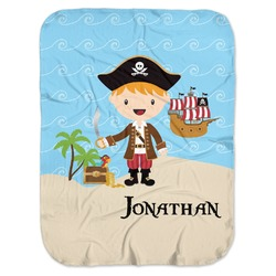 Pirate Scene Baby Swaddling Blanket (Personalized)