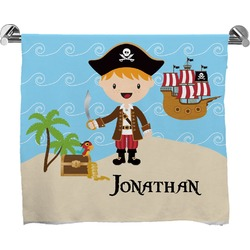 Pirate Scene Full Print Bath Towel (Personalized)