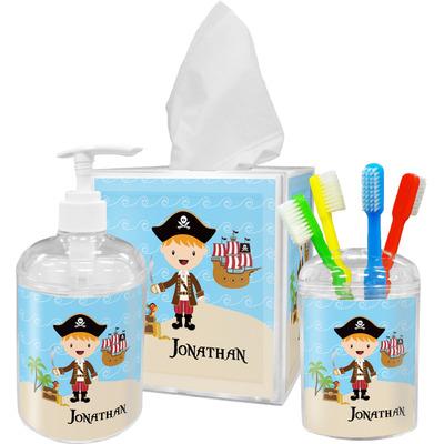 Pirate Scene Bathroom Accessories Set (Personalized)