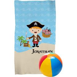 Pirate Scene Beach Towel (Personalized)