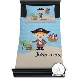 Pirate Scene Duvet Cover Set - Toddler (Personalized)