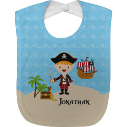 Pirate Scene Baby Bib (Personalized)