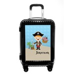 Pirate Scene Carry On Hard Shell Suitcase (Personalized)