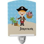 Pirate Scene Ceramic Night Light (Personalized)