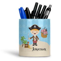 Pirate Scene Ceramic Pen Holder