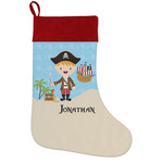 Pirate Scene Holiday Stocking w/ Name or Text