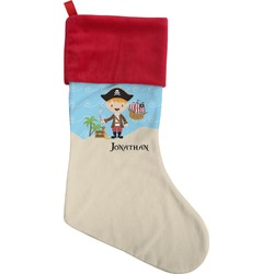 Pirate Scene Christmas Stocking (Personalized)