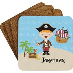 Pirate Scene Coaster Set w/ Stand (Personalized)