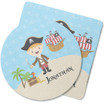 Pirate Scene Rubber Backed Coaster (Personalized)
