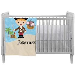 Pirate Scene Crib Comforter / Quilt (Personalized)