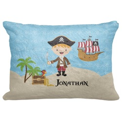"Pirate Scene Decorative Baby Pillowcase - 16""x12"" (Personalized)"
