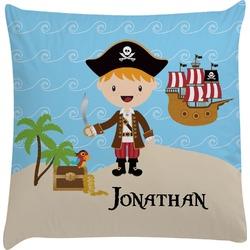 Pirate Scene Decorative Pillow Case (Personalized)