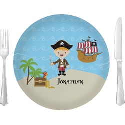 Pirate Scene Glass Lunch / Dinner Plates 10