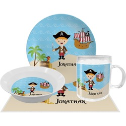 Pirate Scene Dinner Set - 4 Pc (Personalized)