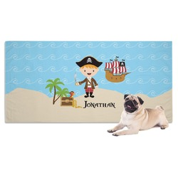 Pirate Scene Dog Towel (Personalized)